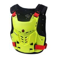 ingrosso girocollo corpetto nero-Moto Armor Motocross Pettorina Back Protector Armor Vest Racing Protettivo Moto Body Guard Vest MX Jacket ATV Guard Black