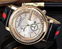 leder armbänder uhr großhandel-Kostenloser Versand Diamanten Männer Uhr 2019 Uhr Kalender Frauen Uhren Leder Gold Armband Armbanduhr Männer Uhren relogios masculinos