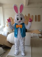 traje de coelho de páscoa venda por atacado-2019 Desconto venda da fábrica Páscoa Coelhinho Da Mascote Trajes Coelho Adulto Tamanho Páscoa Natal