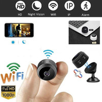 mikro kamera dvr hareketi toptan satış-A9 Full HD 1080 P Mini Wifi Kamera Kızılötesi Gece Görüş Mikro Kamera Kablosuz IP P2P Mini Hareket Algılama DV DVR Kamera