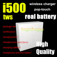 Wholesale i500 tws Air wireless Earphones PK W1 H1 chip Sensor control Earbuds Wirless charging earbuds headphone PK i18 i30 i60 i100 i300