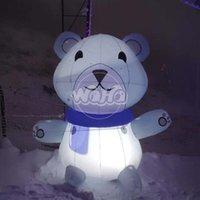 ingrosso avvolgere la pubblicità-Pubblicità delle decorazioni gonfiabili di mostra di promozione dell'orso bruno della mascotte sulla figura viva gonfiabile di evento