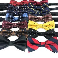 Wholesale 72 Styles Polyester Bowtie For Men Casual Grid Stripe Bow Ties Cravat Neckwear For Wedding Party Bowknot