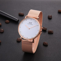 Wholesale folded roses for sale - Group buy Diamonds Daniel Wellington Watch mmMens and mm Womens Unisex Quartz Watch Classic DW Bracelet rose gold silver Men Women Watches