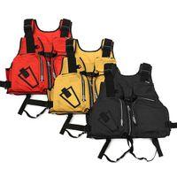 Wholesale kayak jackets resale online - Safurance Nylon Adult Aid Sailing Swimming Fishing Boating Kayak Life Jacket Vest Safety Clothing T190622
