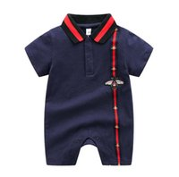 Wholesale summer newborn baby clothes rompers resale online - Retail Baby girls Designer Jumpsuits Newborn Clothes Toddlers Fashion baby boys Rompers Kids Long Sleeeve Infant Rompers