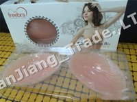 Wholesale silicone bust front closure strapless for sale - Group buy Ladies Invisible Bra Silicone Strapless Self Adhesive Stick on Gel Bras Bust Body Breast Support Women Invisible Bras Box Freebra A42401