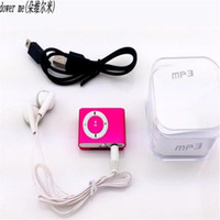 Wholesale 2018 BOX Colorful Mp3 Player Mini Mp3 Music Player Micro TF Card Slot USB Sport USB Port With Earphone Headphone