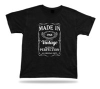 ingrosso t-shirt maniche corte-T-shirt con stampa T-shirt Made in 1968 T-shirt con cappello buon compleanno t-shirt rosa RETRO VINTAGE T-shirt classica taglie shirtut hot new tshirt