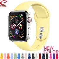 alça de acessórios venda por atacado-Strap Para Apple Watch 38 milímetros banda 42 milímetros iWatch 4 banda 44 milímetros 40 milímetros Esporte Silicone Pulseira cinto correa da Apple assistir 4 3 2 1 Acessórios