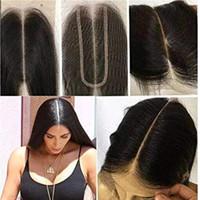 extensions de cheveux vierges achat en gros de-Kim Kardashian Fermeture Remy Dentelle Taille 2by6 Top Dentelle Fermeture Vierge Extensions de Cheveux Humains