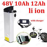 bateria de bateria de lítio de 48v venda por atacado-GTK 48 V 10AH 12AH bateria de iões de lítio Hidde bateria 18650 BMS para 500 W folding framebicycle bicicleta scooter + 2A carregador
