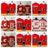 Wholesale sean monahan jersey for sale - Group buy Mens Johnny Gaudreau Jersey Calgary Flames Mark Giordano Sean Monahan Jaromir Jagr Heritage Classic Hockey Jerseys Cheap