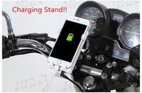 передвижная подставка для мотоциклов оптовых-Платные мотоцикл Держатель телефона 2 в 1 телефон кронштейн USB 360 мотоцикл универсальный вращающийся крепление мобильного телефона заднего вида стенд