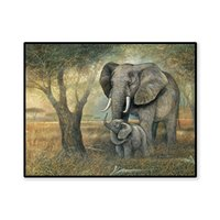 Wholesale elephant frame resale online - New Elephant Chicken Tiger Full Drill Diamond Painting Animal DIY Cross Stitch Decor new No Frame bright color
