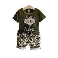 clothing camouflage shirts оптовых-2019 детская одежда летний бутик комплект камуфляж солдат мальчик с короткими рукавами футболки плюс шорты