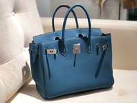 Wholesale togo leather handbag for sale - Group buy factory quality half handmade design togo handbag cm colors wax thread mini order fast delivery by DHL or EMS