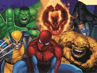 hulk özel toptan satış-7x5ft Örümcek Adam Örümcek Adam Hulk Süper Kahraman Organizasyon Özel Fotoğraf Stüdyosu Arkaplan Backdrop Vinil 220 cm x 150 cm