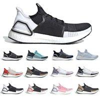 zapatillas de correr para hombre boost al por mayor-Adidas Oreo Ultra boost 5.0 Ultraboost 2019 Running shoes Cloud White Black Refract Primeknit Dark Pixel men women sports trainer sneakers 36-45