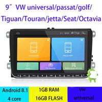 autoradio gps androïde vw achat en gros de-Écran Raio de voiture d'Android 8.1 de voiture DVD de quadruple noyau 16G ROM 1024 * 600 pour VW Golf mk6 5 Polo Jetta Tiguan Passat B6 B5 CC Skoda