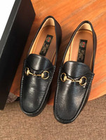 Wholesale business casual work shoes men resale online - Orignal Box Luxurious Tops Mens Business Shoe Oxfords Work Lace Up Cow Leather Casual Shoes Size