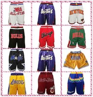 ingrosso solo pantaloncini-Taglia S-XXXL ricamo Fitness Michigan Wolverines Pantaloncini Pantaloni sportivi Nuove appena don pallacanestro sportivo con Pocket Zipper Sportwear Pants