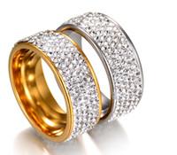ingrosso giada anelli di diamanti-Anello del progettista dell'anello nuovo Diamante pieno jade coppia di sposi anello diamante donne designer accessori di lusso spedizione gratuita 0716