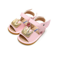 Wholesale baby girl cute sandals resale online - Summer high quality Baby Girls Shoes Newborn Cute Crown Soft Sole Sandals