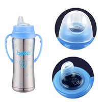 ingrosso bottoni di bottiglia-240ml Tazze per bibite in acciaio inox per isolamento termico 1 bottiglia 3 capezzolo con manico a bocca larga Thermo J190528