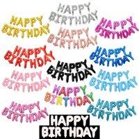 globos de color rosa púrpura blanco al por mayor-Globos inflables de feliz cumpleaños de 16 pulgadas decoraciones globo de helio de burbujas globos de papel de feliz cumpleaños al por mayor para juguetes de niños