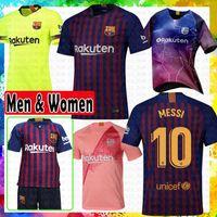 bc68b5424 Barcelona soccer Jersey 18 19 New  10 Messi  8 Iniesta  9 Suárez  11  Dembele  14 Coutinho 2019 Football shirts Thai Quality Home AWAY cheap