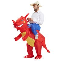 17e7f9a5135bb Déguisement De Dinosaure Gonflable adulte enfants halloween Costume Dragon  Party Outfit thème animal cosplay