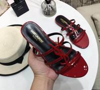 marfim seda sapatos de noiva venda por atacado-Ysl Marca Simples sapatos Mulher Verão Fivela ysl Flatforms sapatos Apontou toe Novo Designer Sandálias Flatforms Moda Sapatos Em Estoque