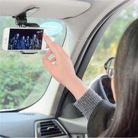 Wholesale navigation car charger resale online - Universal Safe Sun Visor Car Phone Holder Car Navigation Holder Clip Install On Mirror Handle For Mobile Phone