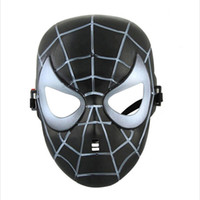 Wholesale kids batman party masks resale online - Halloween Cosplay Masks Customer Party Novelty Cartoon Mask Spiderman Batman US Captain Mask For Kids Mask Masquerady