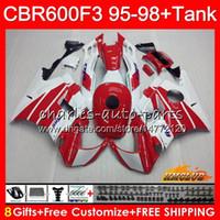 Wholesale f3 1997 1998 fairings for sale - Group buy Body Tank For HONDA CBR F3 CC CBR600 F3 white red hot HC CBR FS F3 CBR600FS CBR600F3 Fairing
