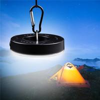 ingrosso le luci appese alla batteria-1PCS Lampada da campeggio alimentata a luce per tende con gancio a torcia Lampada da campeggio a sospensione Lampada a sospensione Lanterna portatile LED Lampadina Batteria