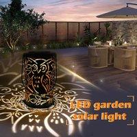 ingrosso civetta decorativa del giardino-LED Solar Garden Light Gufo Esterna Impermeabile Decorazione del giardino Lampada da notte Retro giardino Paesaggio Prato Lampada da terra luce