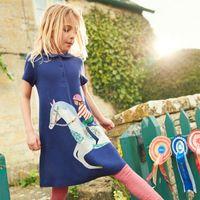menina vestidos de verão crianças princesa venda por atacado-Crianças unicórnio princesa clothing 2019 new summer baby clothing 100% algodão crianças vestidos para meninas party dress crianças clothing