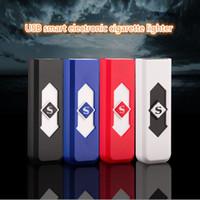 cigarro usb recarregável venda por atacado-Isqueiros do cigarro USB Bateria Recarregável Cigarros Eletrônicos Isqueiros Isqueiros À Prova de Vento de Cigarro Eletrônico CCA11665 600 pcs