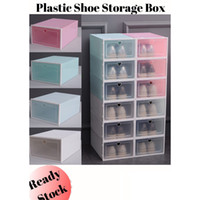 Wholesale plastic boxes online – deals Storage Box Colourful Thicken PP Plastic Shoe Cabinet Drawer Dust proof Storage Box Home Simple Shoes Drawer