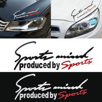 Wholesale car bonnet stickers resale online - New pc Car Stickers Reflective Lamp Eyebrow Captivating Sports Styling Auto Racing Decor Vinyl Bonnet Sticker Graphic Decoratio