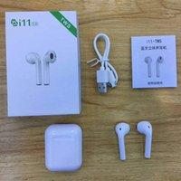 ingrosso le orecchie delle cuffie avricolari del bluetooth-I11 TWS Wireless Earphones 5.0 Auricolari Bluetooth Cuffie Cuffie auricolari Double Call Sia Ear Music Play con scatola di ricarica Small Size APP--