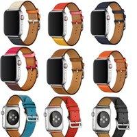 bilezik serisi toptan satış-Apple Watch Band Için deri Döngü Band 42mm Serisi 1 2 3 4 iwatch için 44mm kayış 38mm bilezik Değiştirme 40mm