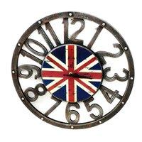 ingrosso decorazioni muri arabe-Legno vintage 40 centimetri orologi da parete retrò americano numeri arabi orologi casa creativa decorazione accessori in legno artigianato