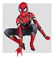 trajes de spiderman adultos al por mayor-Nueva Spider Man lejos de casa cosplay Zentai del hombre araña super héroe del mono del spandex Juego para Adultos / niños por encargo