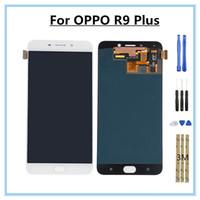 écrans de remplacement lcd de téléphone mobile achat en gros de-Pièces de rechange pour composant de numériseur LCD à écran tactile LCD de 6,0 pouces OPPO R9 PLUS pour envoi d'un ensemble d'outils de réparation