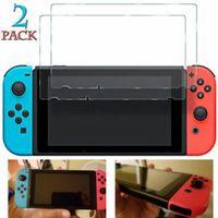 hd kalkanı toptan satış-2 Paketleri Temperli Cam Ekran Koruyucu 2018 Nintendo Anahtarı için Temizle 9 H Kalkanı HD
