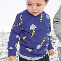 Wholesale bottoms boys clothing kids resale online - Kids Cartoon Print Tops Kids Designer Clothes Boys Girls Baby Long Sleeve Bottoming Shirt Round Neck Cotton Top