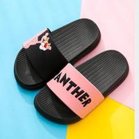Wholesale cartoon flip man resale online - Summer Slides Cartoon Women Slippers Home Slippers Slip Slide Women Shoes Comfortable Flip Flops Man Children